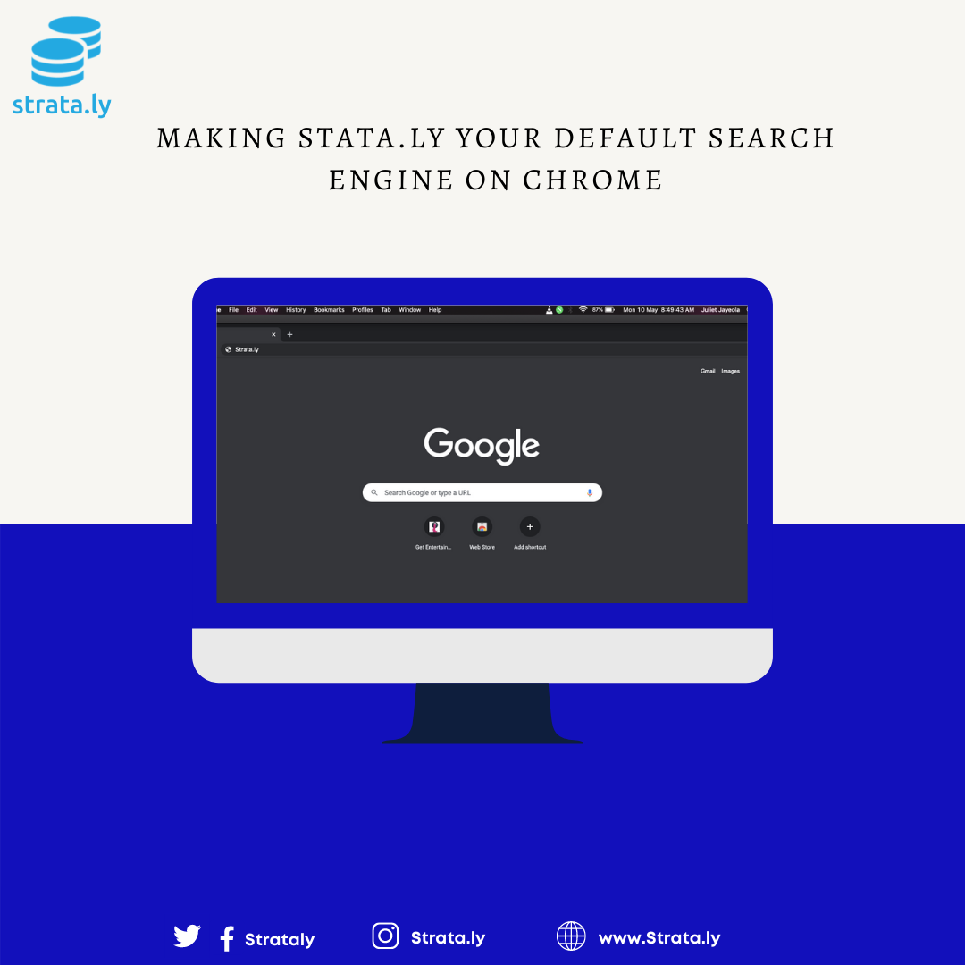 How to Make Strata.ly Your Default Search Engine on Chrome (Desktop)